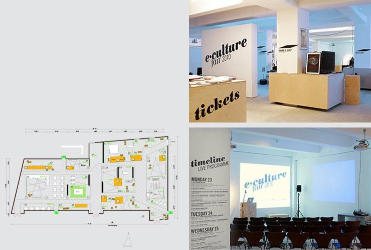 Ausstellungsarchitektur mit temporären Möbeln