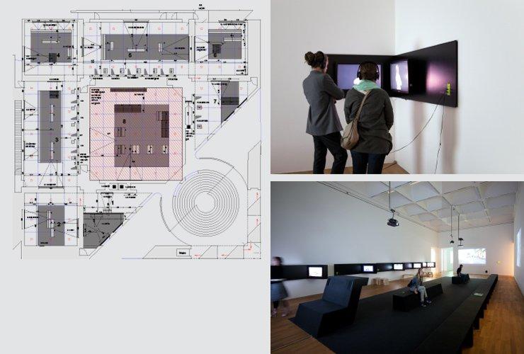 Ausstellungsplan und Raumansichten