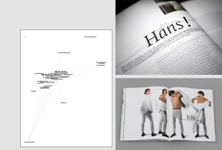 Team-Grafik, Story-Opener und Mode-Fotografie aus Ausgabe 7
