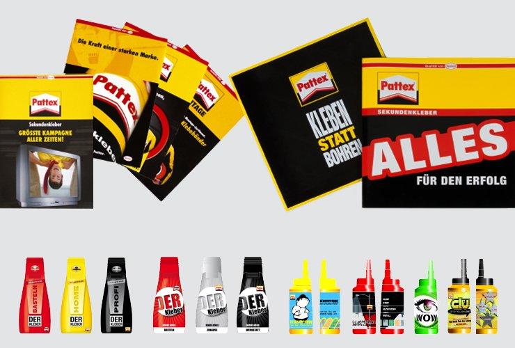 Salesfolder und diverse Verpackungen für Kleber