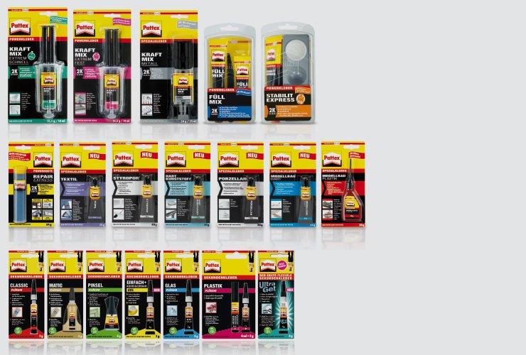 Entwicklung von eindeutigen Verpackungen für Sekundenkleber mit unterschiedlichen Einsatzbereichen