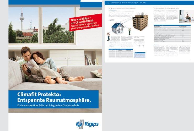 Vorstellung einer einzigartigen Rigips-Platte mit zwei neuen Funktionen: Die Rigips Climafit-Platte kann sowohl als wärmeleitende Platte in Heiz-  und Kühldeckensystemen als auch als Schutzplatte gegen unliebsame Strahlung eingesetzt werden.