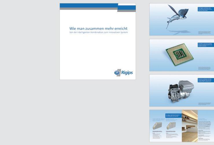 Raffiniertes Mailing zur Zweifachnutzung des neuen Rigips-Systems