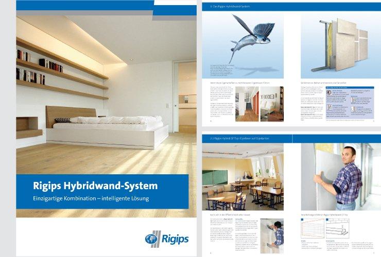 Vorstellung eines neuen Rigips-Systems bestehend aus zwei Rigips-Platten, welche durch unterschiedliche Kombinationen  für verschiedene Einsatzbereiche genutzt werden können.